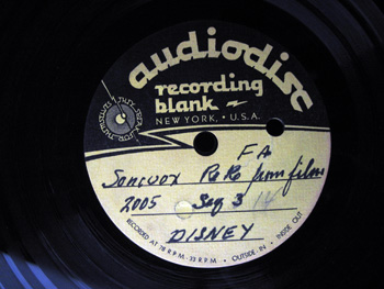001 Label Walt Disney Acetate