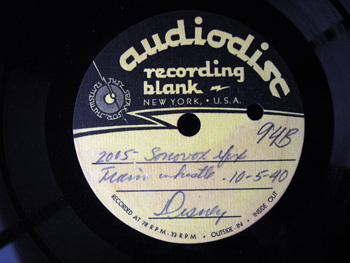 002 B label Walt Disney Acetate