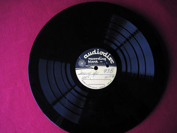Walt Disney Acetate Recording