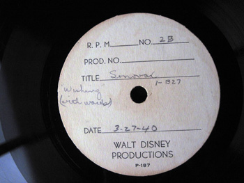 009 A label Walt Disney Acetate Recording