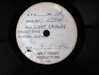 Walt Disney Acetate Recording 027 A