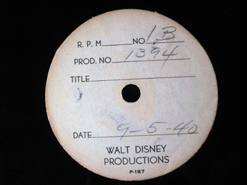 Walt Disney Acetate Recording 027 B