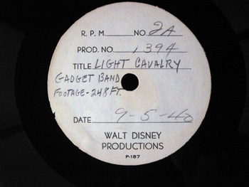Walt Disney Acetate Recording 028 A