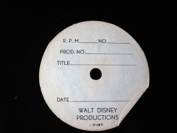 Walt Disney Acetate Recording 028 B