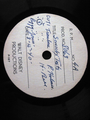 Walt Disney Acetate Recording 030 A